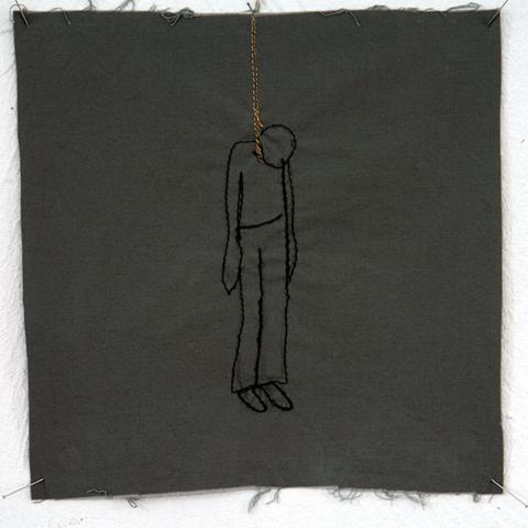 Silke Krah Hanging Machine Embroidery