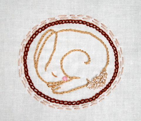 doodlestitchingrabbit by sew'nquilt