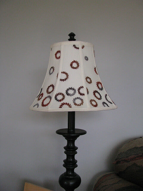 Domestitchery – Embellishing Lampshade with Stitchery