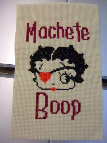 Craftster Pick of the Week – Machete Boop from Omega Chicken