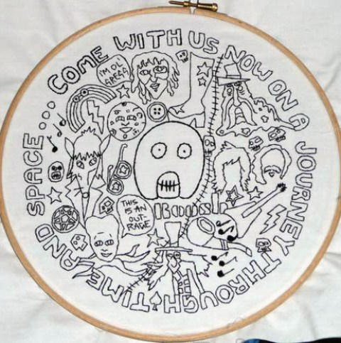 DesignerFake's Mighty Boosh Hand Embroidery