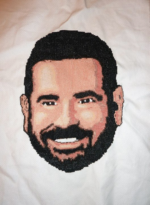 What Emily Made's Billy Mays cross stitch