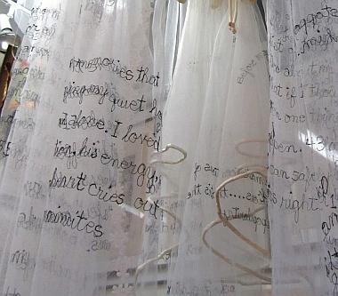 Susan Lenz - wedding veils in process
