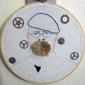 CraftyOctober's Jamie Hyneman hand embroidery