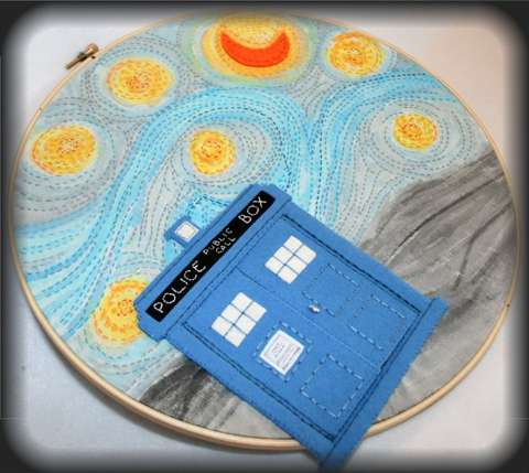 One Groovy Day's Doctor Who Embroidered Applique Hoop