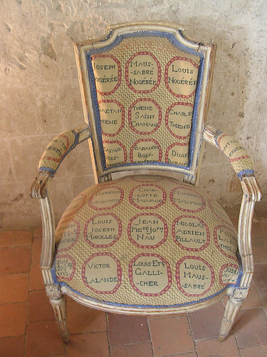 Domestitchery – French Prisoners Chairs