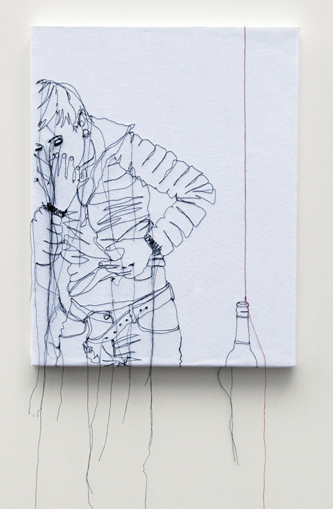 Nike Schroeder embroideries - Self portrait redline I