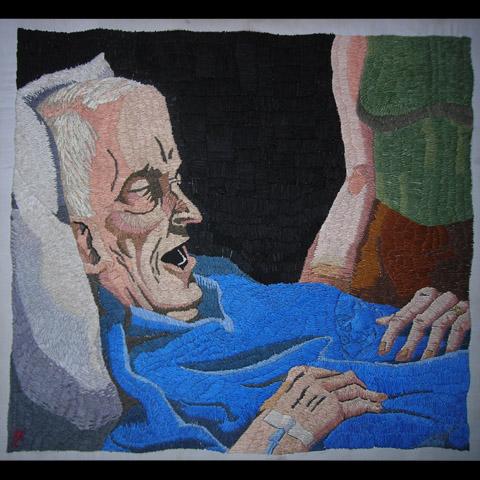 William Schaff - Cancer hand embroidery