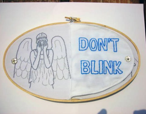 Megstar's Don't Blink Weeping Angel Hand Embroidery