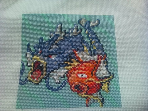 Holder of Anime - Pokemon Magikarp cross stitch