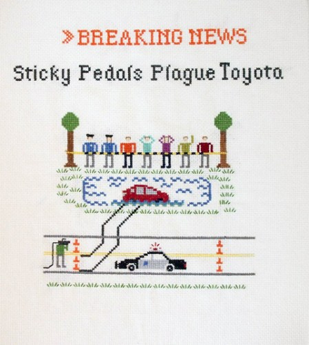 Emily Roose - Sticky Pedals Plague Toyota cross stitch