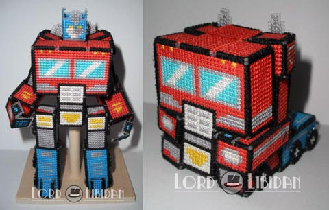 Lord Libidan - Optimus Prime Transforming 3D Cross Stitch
