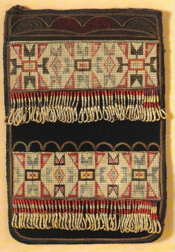 Quillwork Bag, circa 1840's, Great Lakes area.