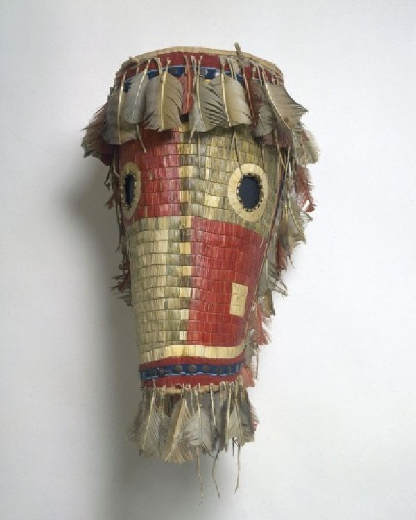 Cheyenne horse mask with quillwork, 1850's.