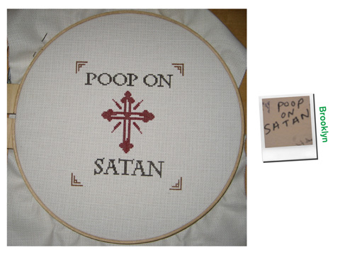 Robert Marbury - Cute Vandalism cross stitch
