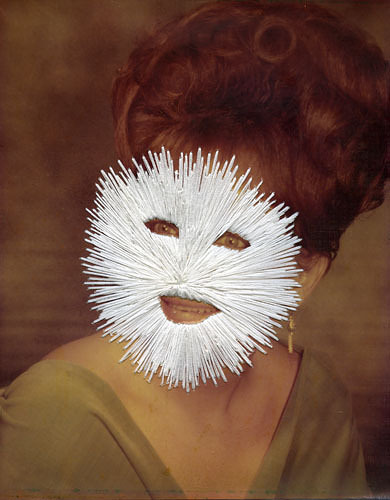 Jessica Wohl - Masked hand embroidery on photographs
