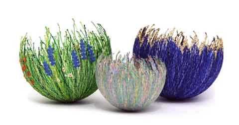 Anne Honeyman - Bowls - 3D Machine Embroidery