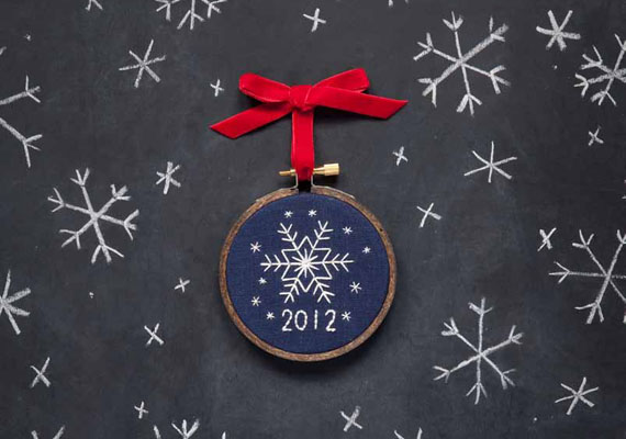 Hey everyone, it's Etsy! Miniature Rhino's Snowflake Ornament