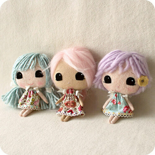 Too Cute Tuesday – Mini Moppets by Gingermelon