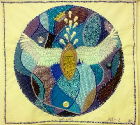 Lorrie Herranz's beaded embroidery