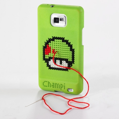Cross Stitched Samsung Galaxy SII cover by Sculpteo
