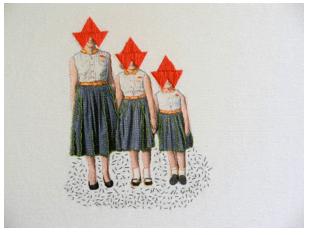 Hagar Vardimon van Heummen - Thread and Ink - Embroidery on paper