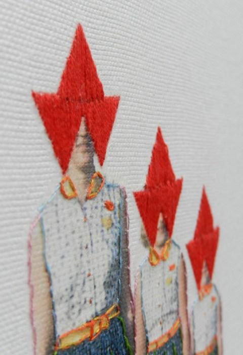 Hagar Vardimon van Heummen - Looking Forward (2011) -Thread on Canvas (detail)