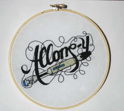 Spikefan's Allonsy Doctor Who Hand Embroidery