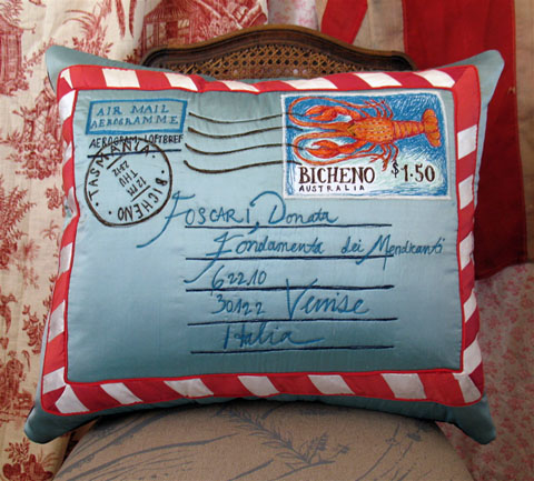 Tara Badcock - 'Letter to Donata Foscari' (2012) Cushion