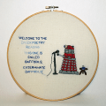 Deathbeforedishes Hand Embroidered Dalek Poetry Hoopla