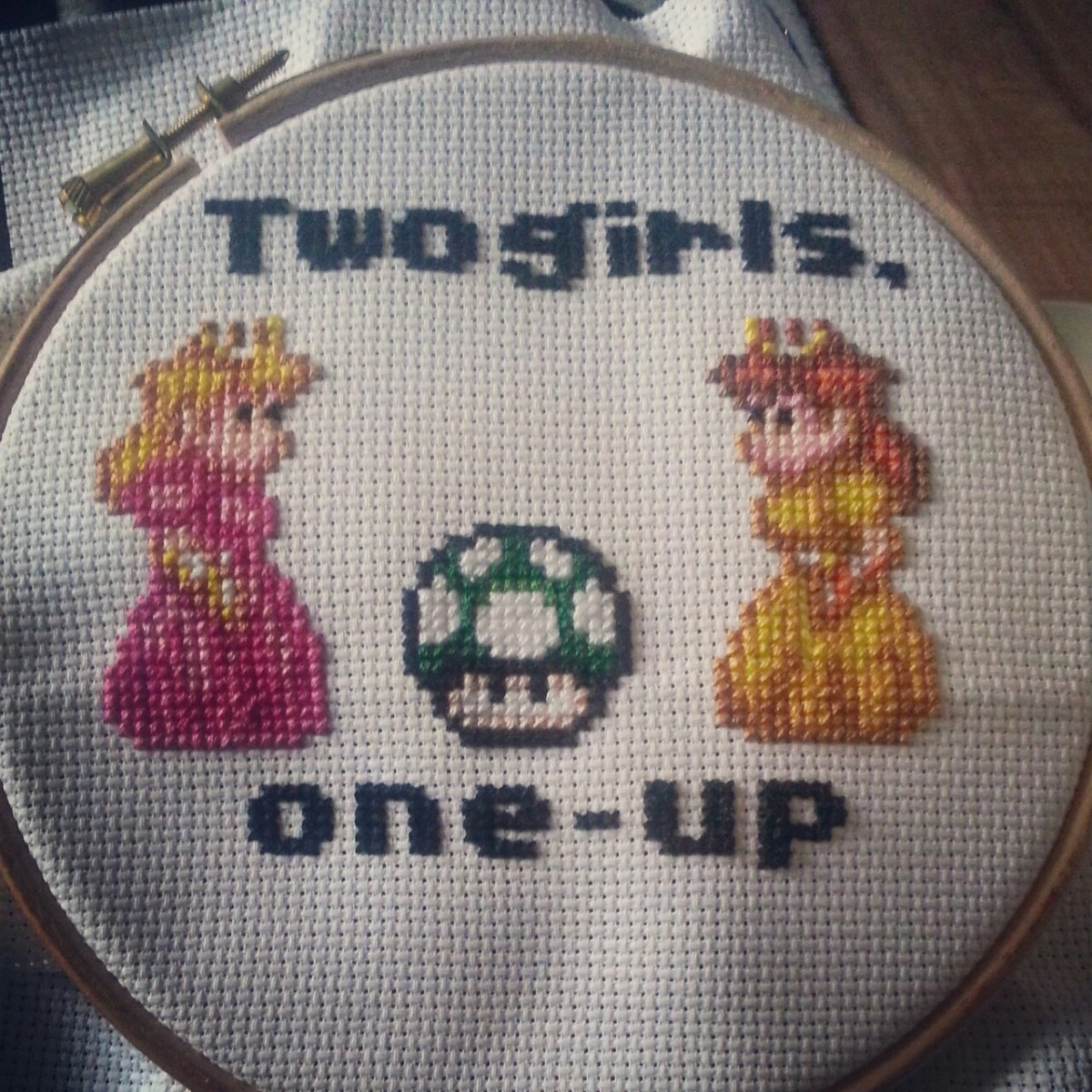 Stitchgasm! Kaylie-Jane's Two Girls, One Up Cross Stitch!