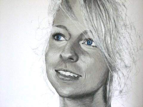 Birgitte Busk - Pernille - Machine Embroidered Portrait