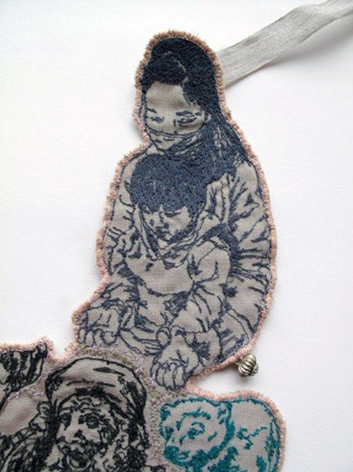Sophie Strong - March 2013 Necklace - Machine Embroidery (detail)
