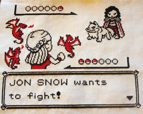 Beki710's Game of Thrones Pokemon Cross Stitch