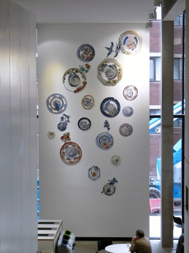 Harriet Lawton - Textile Plate Display