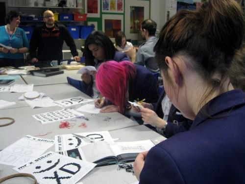 Mr X Stitch Workshop at Oriel High School 170113