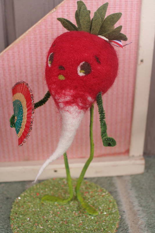 All Good Wishes needle felted beet
