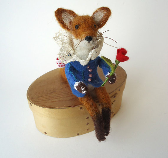 Miss Bumbles needle felted fox