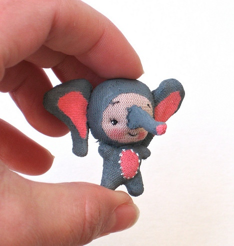Tiny Elephant Plush by BeBe Babies