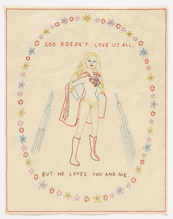 David Curcio - The Kryptonian - Hand Embroidery