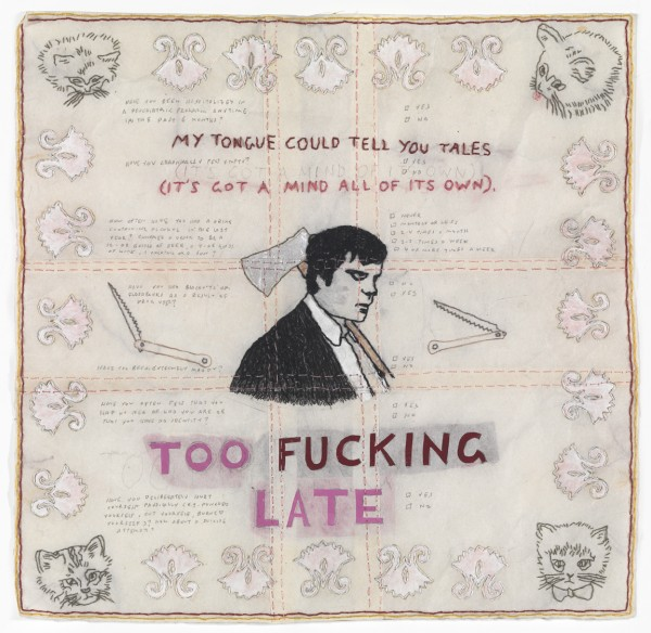 David Curcio - Too Fucking Late - Hand Embroidery