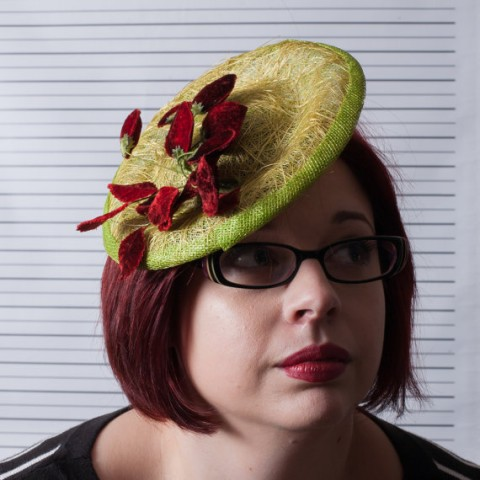 Chef Bizzaro Tuft Green Fascinator