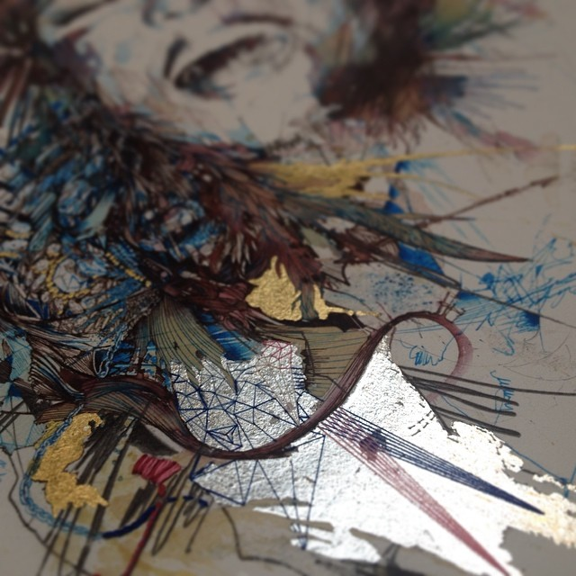 Sequintial Art – Carne Griffiths Art Embroidery