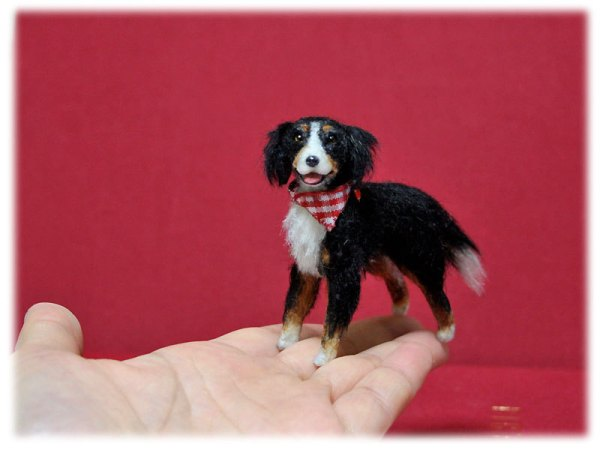 Mikepanchi Animals, needle felted dog
