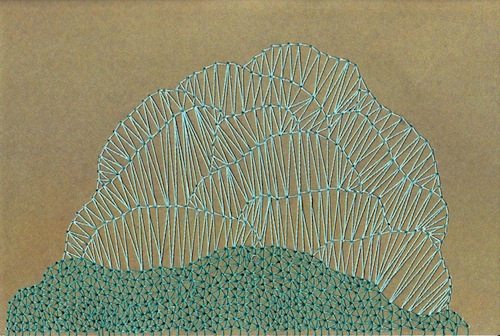 Imaginary Coral by Sarah K Benning (Print of Hand embroidery)
