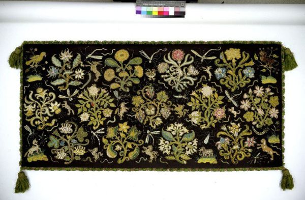 Long cushion cover, c1600. © V&A