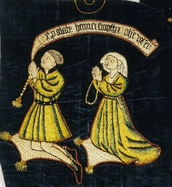 Detail of embroidered altar cloth © V&A