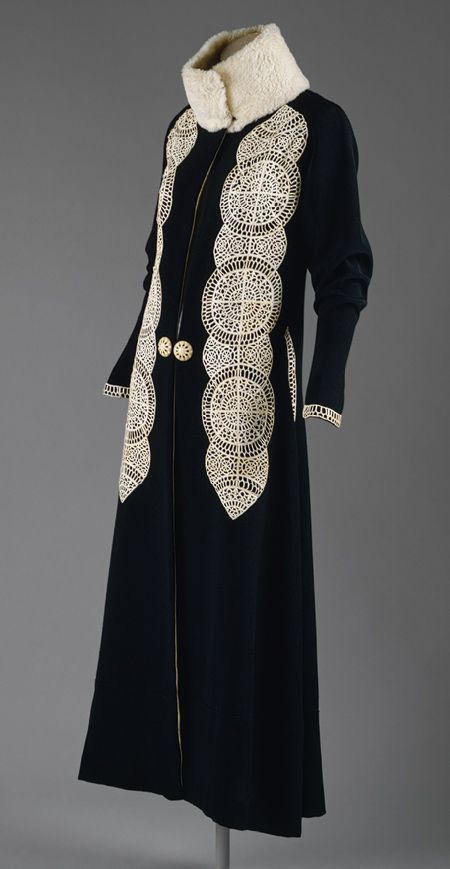 Poiret leather applique coat. 1919 © Metropolitan Museum