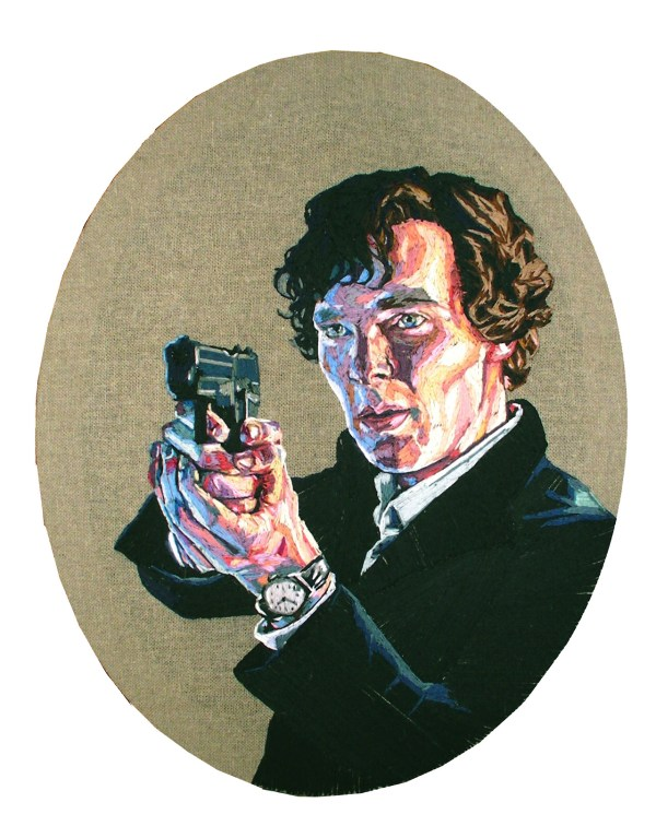 Julie Sarloutte - Sherlock - Hand Embroidery
