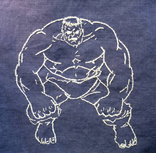 Nikschaf's Hulk Embroidered Napkin